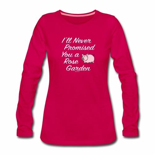 Hauskat Possu paidat, tekstiilit- ja lahjatuotteet - Naisten premium pitkähihainen t-paita