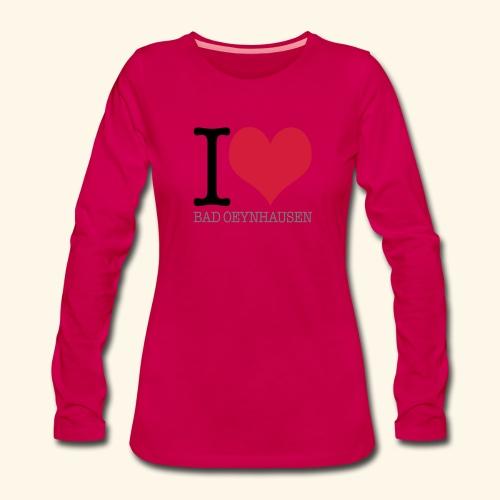 Love is in the Kurstadt - Frauen Premium Langarmshirt