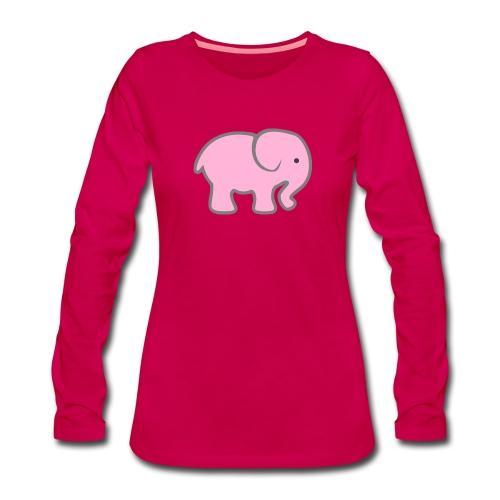 Pinker Elefant - Frauen Premium Langarmshirt