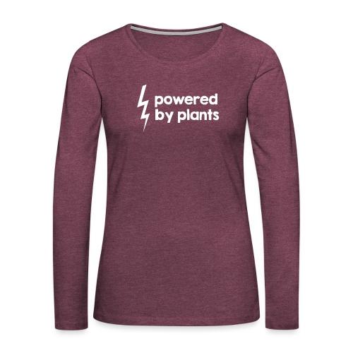 Powered by plants #2 - Frauen Premium Langarmshirt