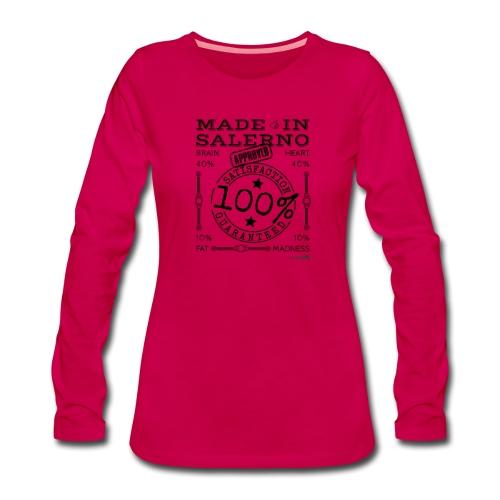 1,02 Made In Salerno - Maglietta Premium a manica lunga da donna