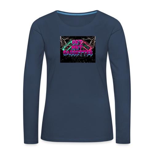 get wet cassettes - Naisten premium pitkähihainen t-paita