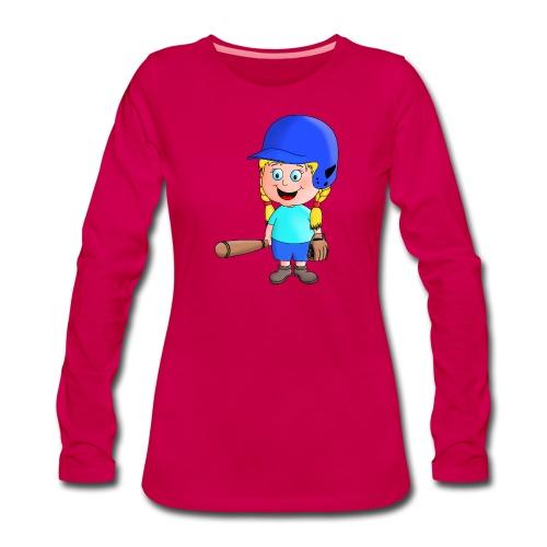kleiner Baseball Star - Frauen Premium Langarmshirt