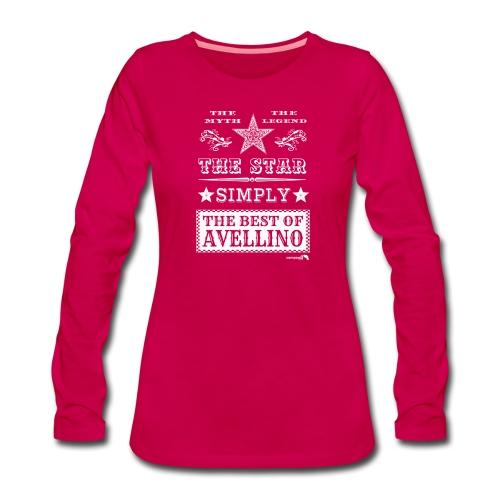 1,03 The Star Legend Avellino Bianco - Maglietta Premium a manica lunga da donna
