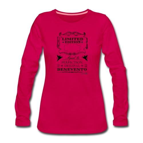 1.01 Invecchiato per Perf. BN (Inserisci anno al centro) - Maglietta Premium a manica lunga da donna