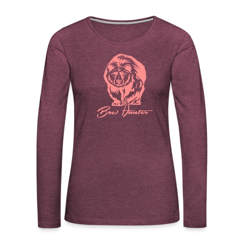 Bear Bowhunter - Frauen Premium Langarmshirt