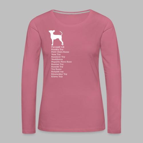 koirat kieletlk - Naisten premium pitkähihainen t-paita