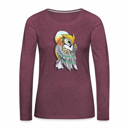 Cosmic owl - Camiseta de manga larga premium mujer