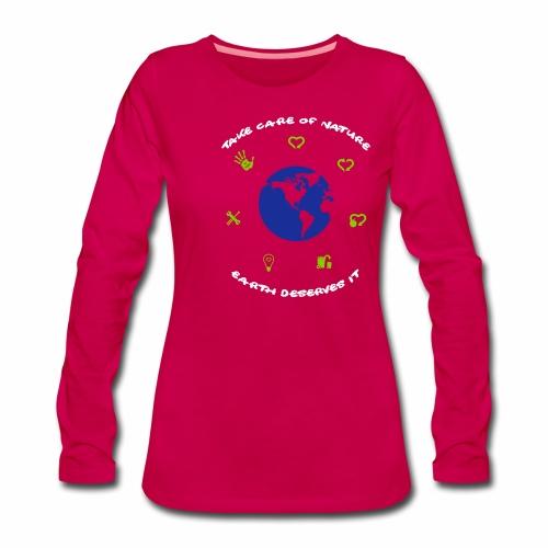 0 déchet - T-shirt manches longues Premium Femme
