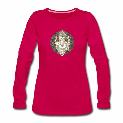 Ganesha - Dame premium T-shirt med lange ærmer