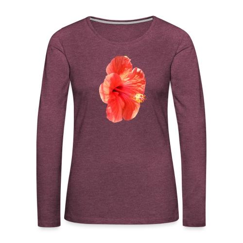 A red flower - Women's Premium Longsleeve Shirt