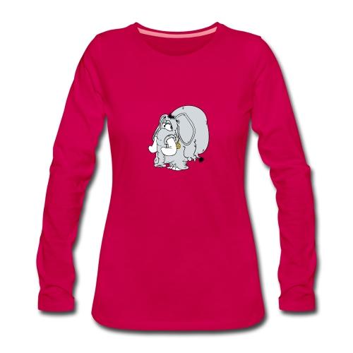 Peace fant - Långärmad premium-T-shirt dam