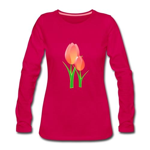 Belle fleur - T-shirt manches longues Premium Femme