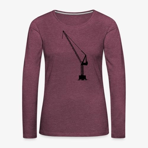kraan - Vrouwen Premium shirt met lange mouwen