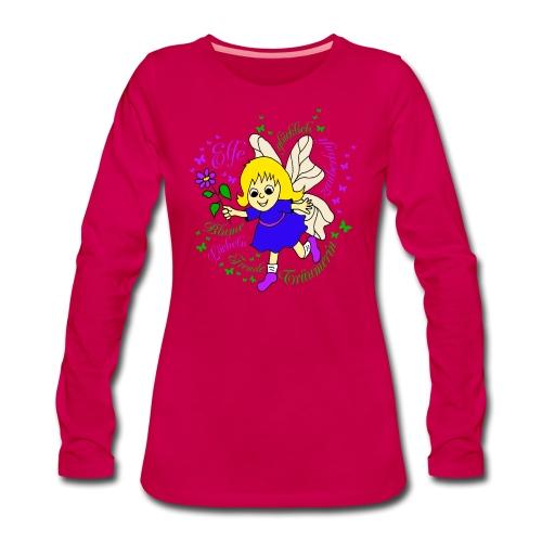 Elfe Traeume in Lila - Frauen Premium Langarmshirt