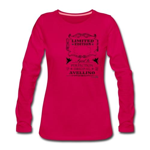 1.01 Invecchiato per Perf. AV (Inserisci anno al centro) - Maglietta Premium a manica lunga da donna