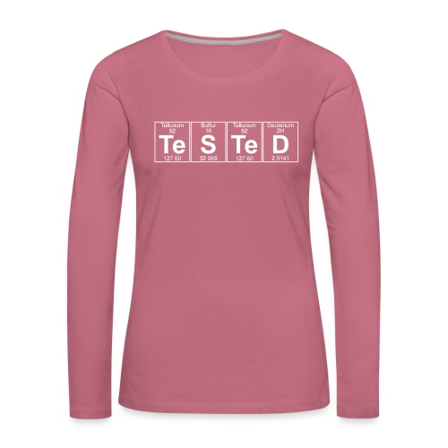 Te-S-Te-D (tested) (small) - Women's Premium Longsleeve Shirt