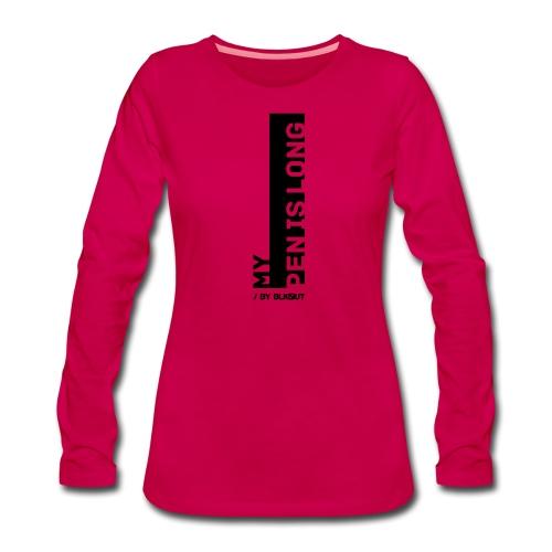PEN IS LONG - Koszulka damska Premium z długim rękawem