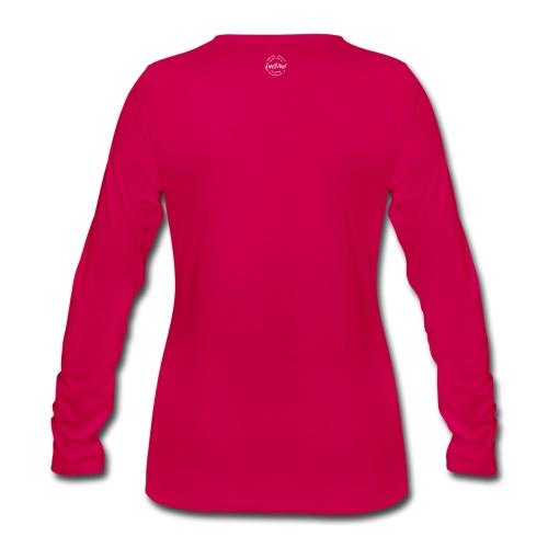 Luckimi logo white small circle on sleeve or back - Women's Premium Longsleeve Shirt