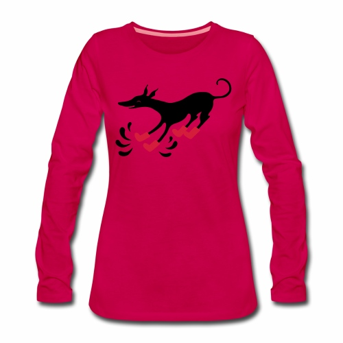 Latakko Loiskis - Naisten premium pitkähihainen t-paita