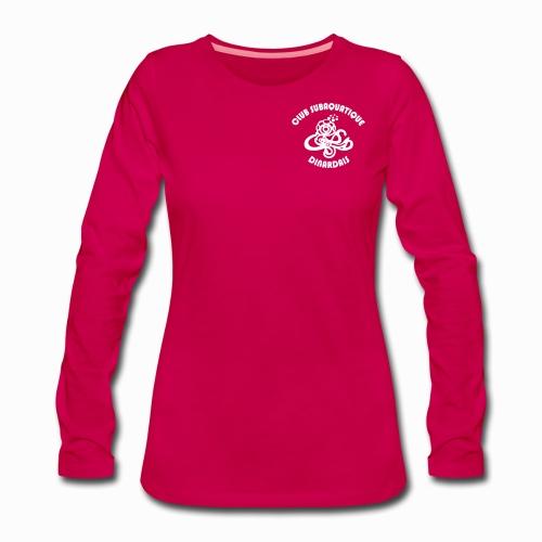 Logo CSD petit avec texte - T-shirt manches longues Premium Femme