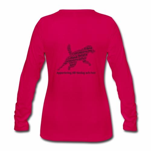 Apportering till vardag och fest wordcloud svart - Långärmad premium-T-shirt dam