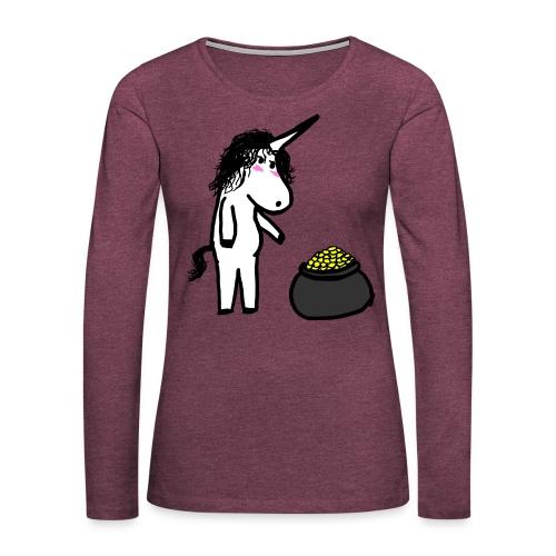Oro unicorno - Maglietta Premium a manica lunga da donna