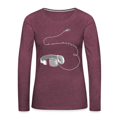 Tee shirt manches longues casque soundtrack - T-shirt manches longues Premium Femme