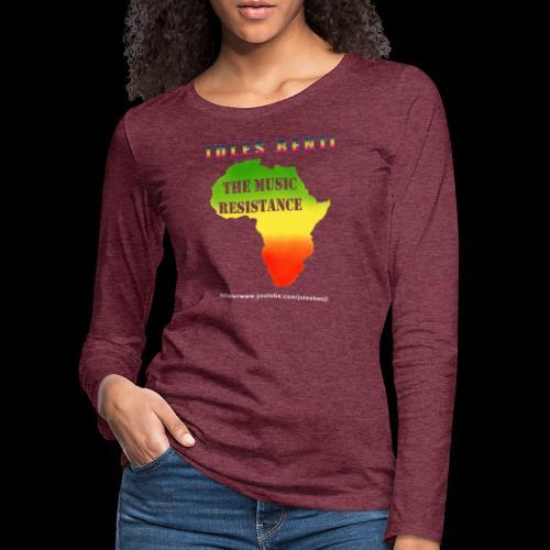 JULES BENJI & MUSIC RESISTANCE africa design - Women's Premium Longsleeve Shirt