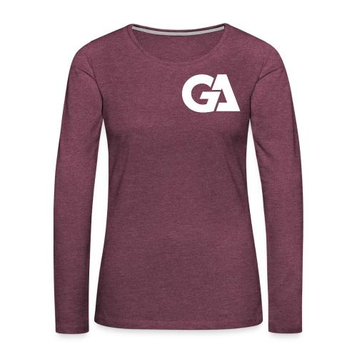 Gaming Alliance Wit - Vrouwen Premium shirt met lange mouwen