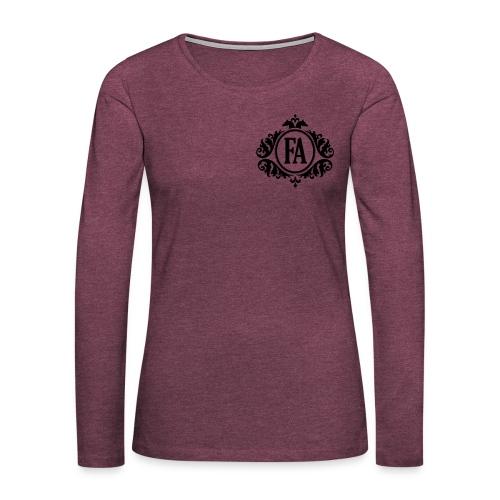 FAutan_text - Långärmad premium-T-shirt dam