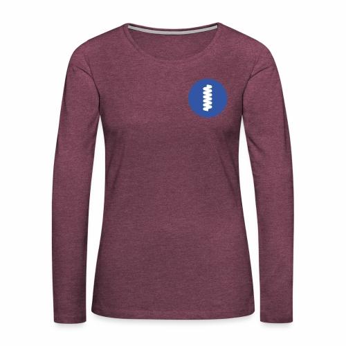 logomark in circular blue - Women's Premium Longsleeve Shirt