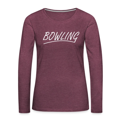 Bowling souligné - T-shirt manches longues Premium Femme