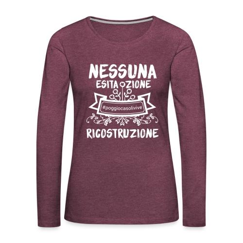 patch ricostruzione Poggio Casoli - Maglietta Premium a manica lunga da donna