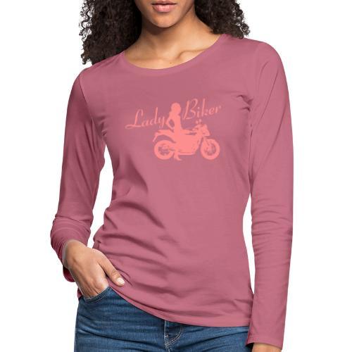 Lady Biker - Naked bike - Naisten premium pitkähihainen t-paita