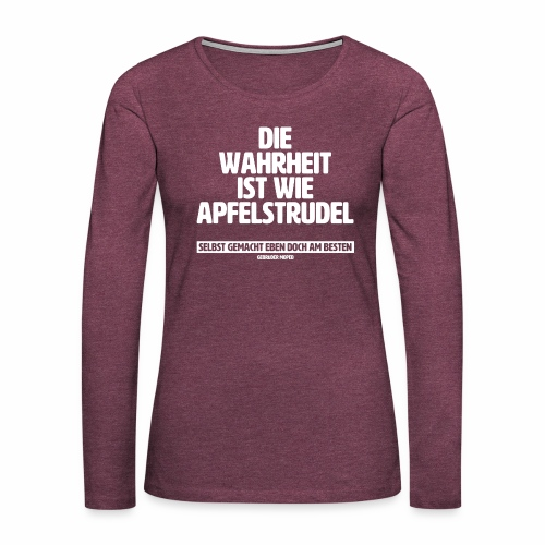 Wahrheit - Frauen Premium Langarmshirt