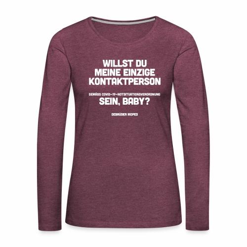 Kontaktperson - Frauen Premium Langarmshirt