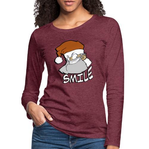 Santa smile - T-shirt manches longues Premium Femme