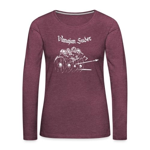 Kilpimuuri B - Naisten premium pitkähihainen t-paita