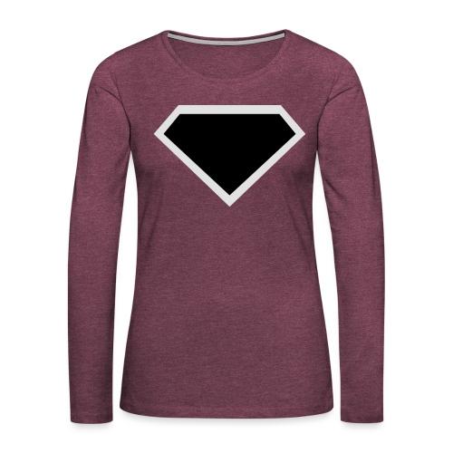 Diamond Black - Two colors customizable - Vrouwen Premium shirt met lange mouwen