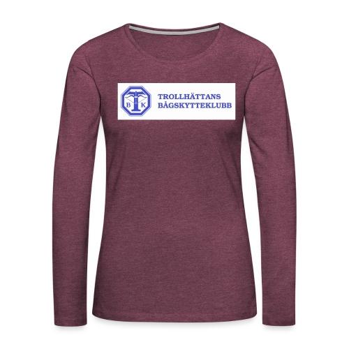 Piké Herr Slim - Tävlingströja med ryggtryck - Långärmad premium-T-shirt dam