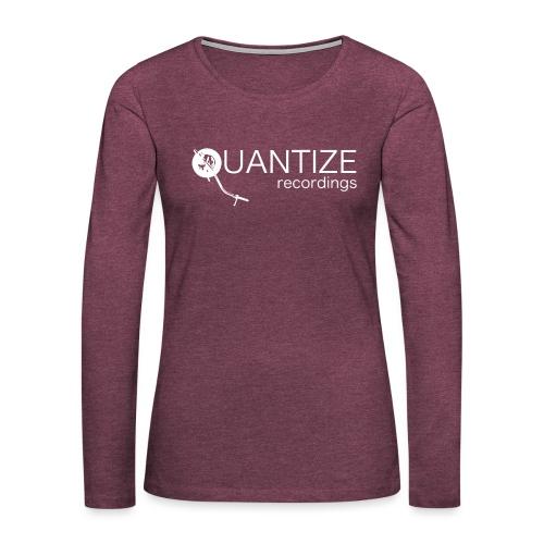 Quantize White Logo - Women's Premium Longsleeve Shirt