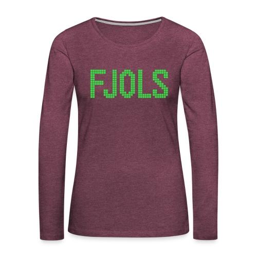 FJOLS Grøn - Dame premium T-shirt med lange ærmer