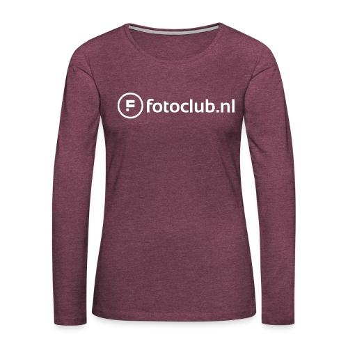Logo Wit Fotoclublnl - Vrouwen Premium shirt met lange mouwen