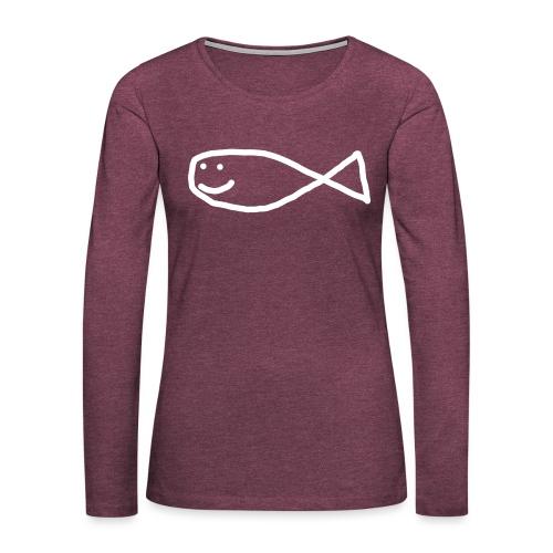 Klassisk Strandfisk T-Shirt - Premium langermet T-skjorte for kvinner