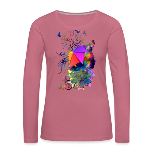 Lady Colors by T-shirt chic et choc - T-shirt manches longues Premium Femme