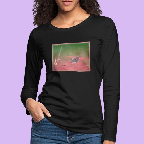 Farfalla nella pioggia leggera - Maglietta Premium a manica lunga da donna