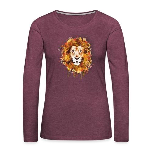Lion Art - Lion of Judah - Rastafari - Reggae - - Frauen Premium Langarmshirt