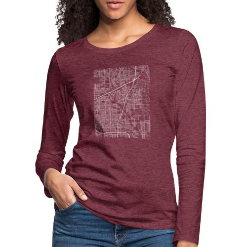 Minimal Allen city map and streets - Women's Premium Longsleeve Shirt