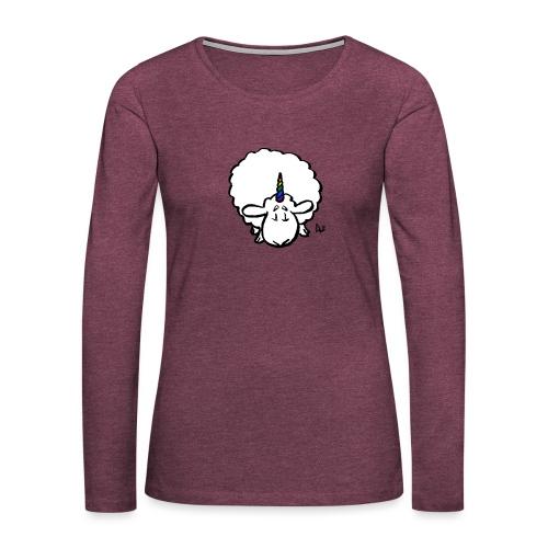 Ewenicorn - det er en regnbue enhjørning får! - Dame premium T-shirt med lange ærmer